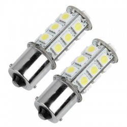 1156/BA15S/P21W - 18 LED BULBS (PAIR)