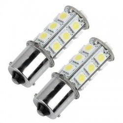 1156/BA15S/P21W - 18 LED BULBS (PAIR)