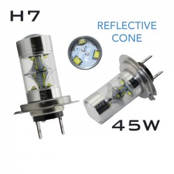 H7 REFLECTIVE CREE LED - 45W