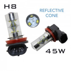 H8 REFLECTIVE CREE LED - 45W