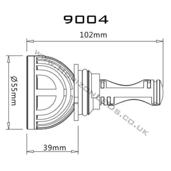 1st generation   hb1  9004  hi  lo  cree headlight led kit