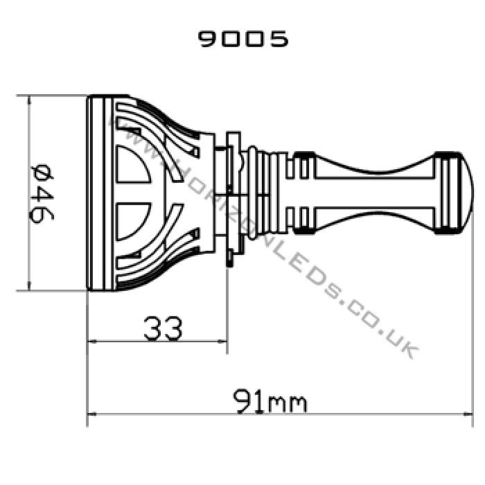 hb3  9005 cree headlight led kit