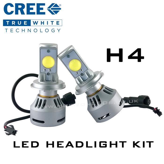 h4 hi lo cree headlight led kit 3200 lumens. Black Bedroom Furniture Sets. Home Design Ideas