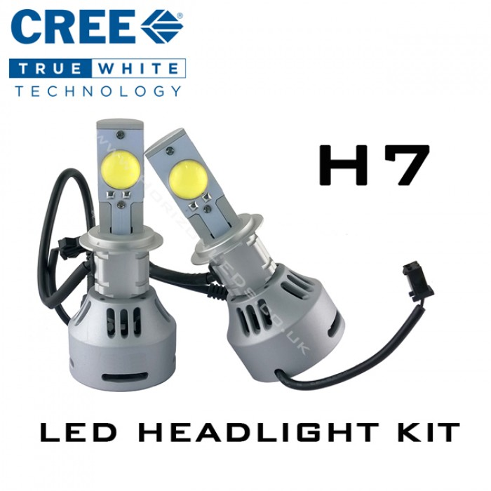 h7 cree headlight led kit 3200 lumens. Black Bedroom Furniture Sets. Home Design Ideas