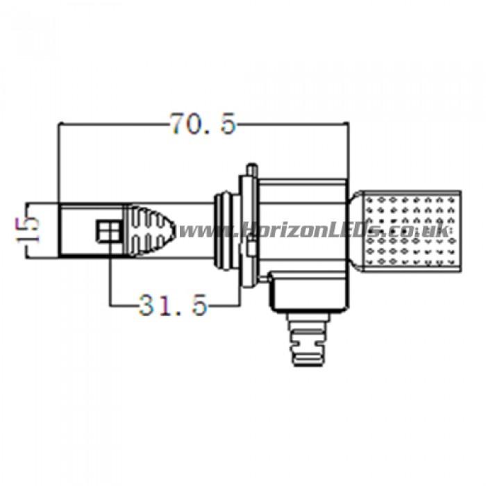 hb4  9006 philips lumileds luxeon headlight led kit