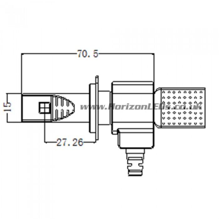 h7   h7 philips lumileds luxeon headlight led kit