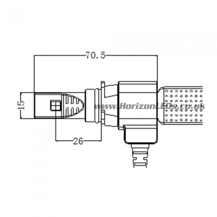 hir2  9012 philips lumileds luxeon headlight led kit 4000