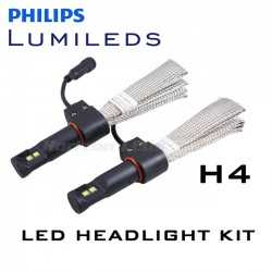 H4 Hi/Lo Philips Lumileds LUXEON Headlight LED Kit - 3000 Lumens
