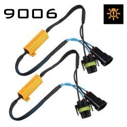 HB4/9006 CANBUS RESISTOR HARNESS - PAIR