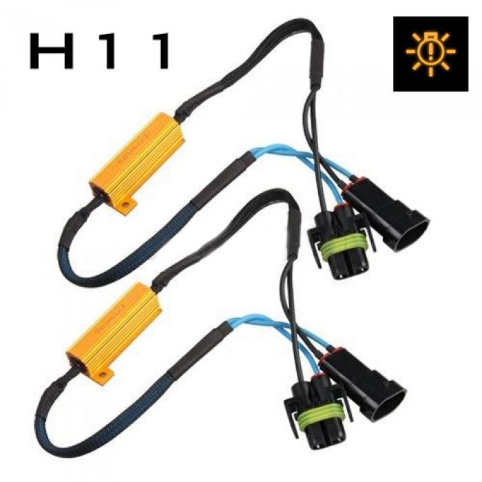 H11 Fog Light Cree & LED Resistor Harness | CANBUS Error Free | Plug