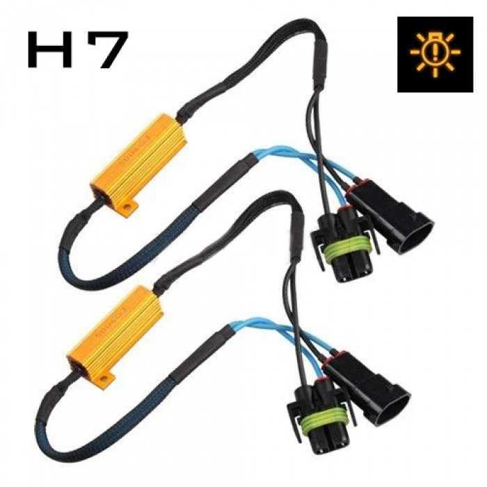 h7 fog light cree led resistor harness canbus error. Black Bedroom Furniture Sets. Home Design Ideas