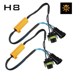 H8 CANBUS RESISTOR HARNESS - PAIR