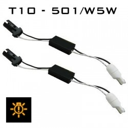 T10 - 501/W5W LED CANBUS MODULE - ADAPTOR KIT