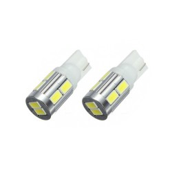 T10/501/W5W HIGH POWER 10 LED BULBS - PAIR