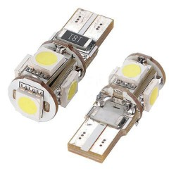 CANBUS T10/501/W5W 5 LED BULBS - PAIR