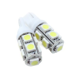 T10/501/W5W 9 LED BULBS - PAIR