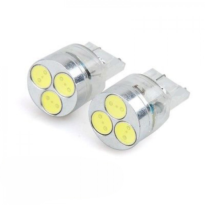 T20  7440 High Power 3 Led Bulbs  Pair