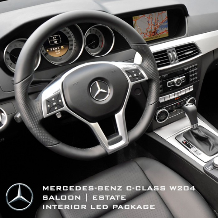 Mercedes benz led package kits mercedes benz c class for Interieur w204
